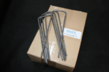 Heavy Duty U Pins ( Box 50 ) 270mm x 80mm x 270mm x 6mm Ribbed
